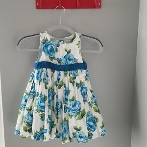 Janie and jack blue rose floral dress 18-24 m girl
